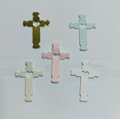 £1.20 • Buy 40 Small Cross DieCuts Christening First Communion Religious Wedding Cards 3.cms