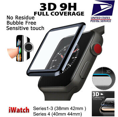 $ CDN6.69 • Buy 3D Tempered Glass Screen Protector For IWatch Apple Watch 4/3/2/1 38/42/40/44mm