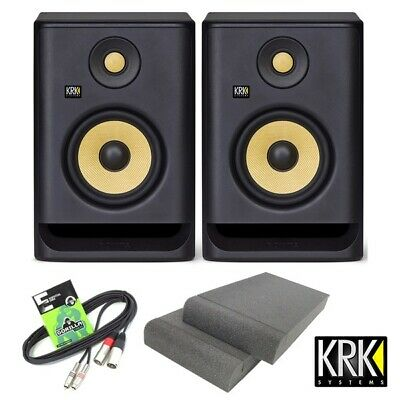 £279 • Buy KRK Rokit RP5 G4 Active DJ Studio Monitor Speakers With Isolation Pads & Cable