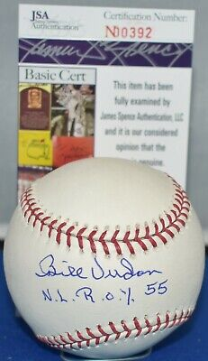 $ CDN66.15 • Buy Bill Virdon Autographed Major League Baseball St Louis Cardinals  Nl Roy 55 Jsa