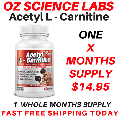 AU14.95 • Buy From $14.95* Acetyl L - Carnitine Capsules Weight Loss Fat Burn Alcar Nootropric