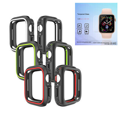 $ CDN4.71 • Buy For Apple Watch Series 4 TPU Bumper IWatch Screen Protector Case Cover 40/44mm