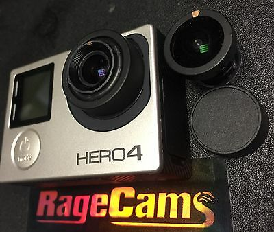 AU563.34 • Buy GoPro Hero4 Black Camera Modified 4K CHDHX-401 With 5.4mm Rectilinear Flat Lens