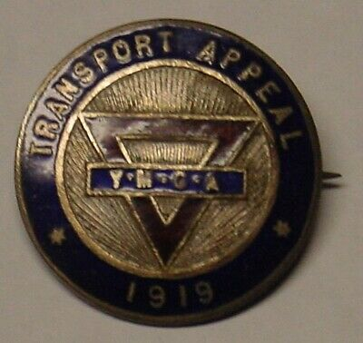 AU27.50 • Buy WW1 Related YMCA Badge, 1919 Transport Appeal.