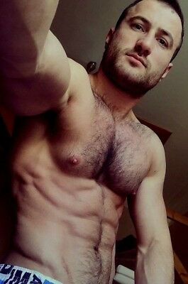 $ CDN4.26 • Buy Shirtless Male Muscular Hunk Hairy Chest Beard Beefy Dude PHOTO 4X6 F855