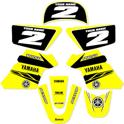 $ CDN60.47 • Buy YAMAHA PW 50 PW50  GRAPHICS KIT DECALS DECO Fits Years 1990 - 2018  Yellow Enjoy