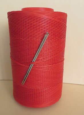 £3.95 • Buy  RITZA TIGRE WAXED HAND SEWING THREAD 0.8mm FOR LEATHER & 2 NEEDLES - RED JK62