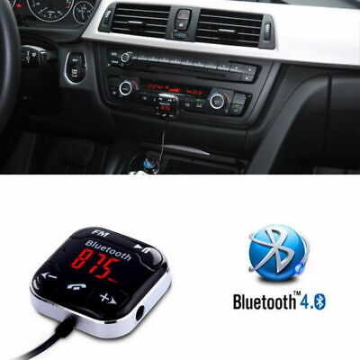 Handsfree Wireless Bluetooth LCD USB MP3 AUX SD FM Transmitter Magnet Car Kit • 11.19£