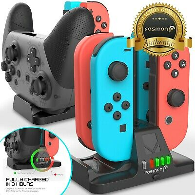 $12.99 • Buy 4in1 Nintendo Switch Pro Joy Con Joycon Controller Charger Charging Dock Station