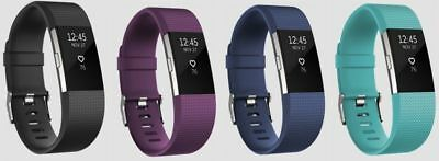 AU102.04 • Buy Fitbit Charge 2 HR Heart Rate Monitor Fitness Wristband Tracker - ALL COLORS