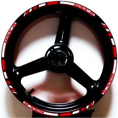 $25.99 • Buy 3m Reflective Red White Gp Style Custom Rim Stripes Wheel Decals Tape Stickers