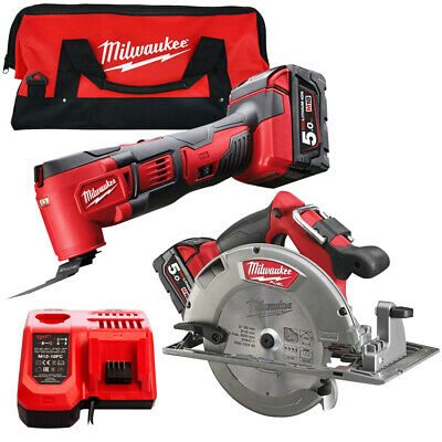 £485 • Buy Milwaukee 18V Li-ion Twin Kit With 2 X 5.0Ah Batteries & Charger In Tool Bag