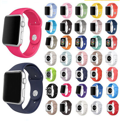 $ CDN3.51 • Buy Silicone Band Strap For AppIe Watch IWatch Sports Series1-5 38mm 42mm 40mm 44mm