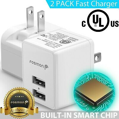 AU20.03 • Buy 2x Fast Dual USB Wall Charger Plug Adapter For Samsung Galaxy S10 IPhone XS 8 7
