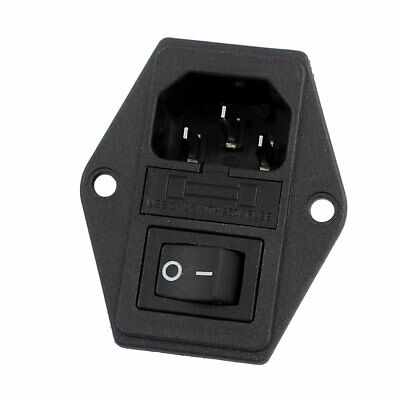 £4.24 • Buy 10A 250VAC Rocker Switch 3 Terminals IEC320 C14 Inlet Male Power Connector