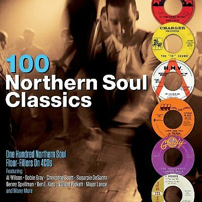 100 Northern Soul Classics Floor Fillers 4 CD Set Al Wilson Dobie Gray + More • 8.99£