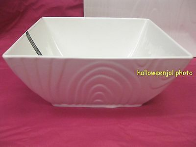 $32.95 • Buy Roscher Serving Bowl Wood Grain White Fine Porcelain Dinnerware Brand New