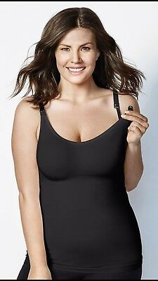 $32.50 • Buy Bravado Body Silk Seamless Nursing Tank 7701 Black Maternity Xl X-large New