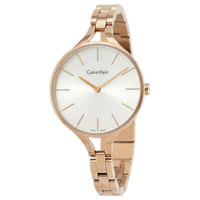 £55.89 • Buy Calvin Klein Graphic Silver Dial Ladies Bangle Watch K7E23146