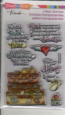 New STAMPENDOUS Clear Cling Rubber Stamps TRAVEL HOME LUGGAGE FREE US SHIP • 9.26£