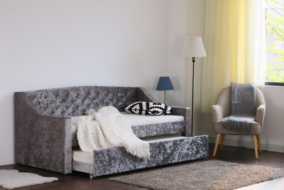 £999.99 • Buy Crushed Velvet Day Bed Single Storage Drawer Guest Bed Trundle Mattress Options