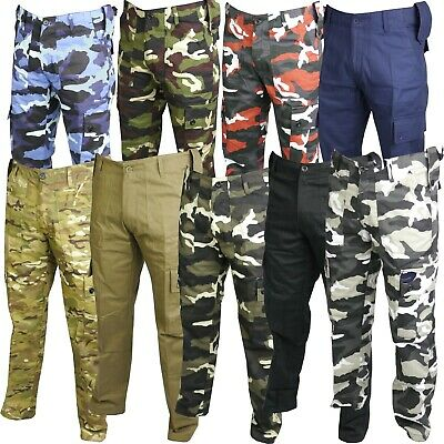 £16.99 • Buy Mens Combat Trousers Tactical Work Wear Cargo Pocket Outdoor Army Security Pants