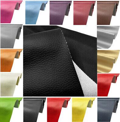 Faux Leather Fabric Soft PVC Material Grained Leatherette Clothing Upholstery • 4.98£