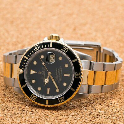 $ CDN11818.46 • Buy Rolex Submariner Date 16803 40MM Black Dial With Two Tone Bracelet
