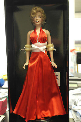 Franklin Mint Marilyn Vinyl Doll Christmas Red Satin 16  LE/1000 With COA • 181.45£