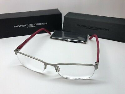 4332a4f87827 Authentic Porsche Design Rx Eyeglasses 8242-C Pink  Silver Frame 54 17