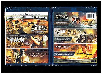 $11.75 • Buy Legendary Heroes: 7 Adventures Of Sinbad/Almighty Thor/John Carter Of Mars - New