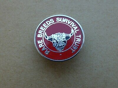 Vintage Enamel Rare Breeds Survival Trust Badge • 4.49£