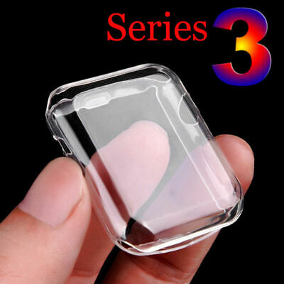 $ CDN2.94 • Buy IWatch 38/42MM Apple Watch Clear Case Full Cover Screen Protector Series 1/2/3