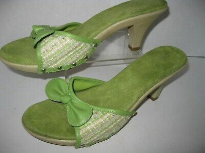 63184bcdfc ... Black Platform Work Dress Shoes Heels Pumps Q057. 27.99$ View Details.  Fioni Womens Size 8 Lime Green 3 Heel Open Slide Ins • 7.65$