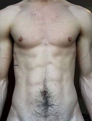 $ CDN3.88 • Buy Shirtless Male Beefcake Muscular Physique Hairy Abs Chest Body PHOTO 4X6 F1686