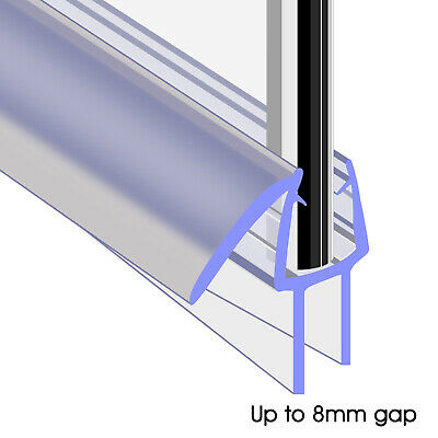 Bath Shower Screen Door Rubber Seal Strip Glass For Thickness 4 - 6mm Gap 8mm • 5£