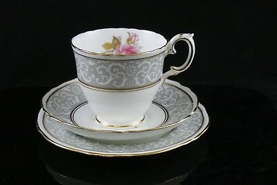 Vintage Crown Staffordshire Roses Floral Trio Cup Saucer Side Plate • 9.95£