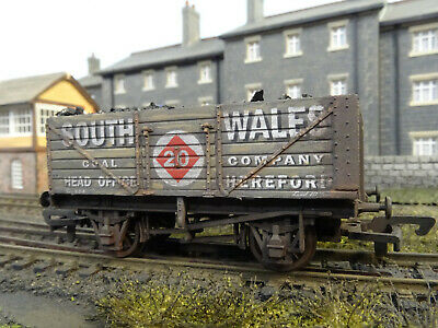 Dapol 7 Plank Wagon South Wales Coal & Load (lineside Weathered) B576 • 24.95£