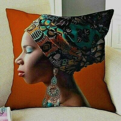 New ...african Woman Print Cushion Covers..... • 8.99£