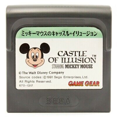 AU25.99 • Buy SEGA Game Gear Game - Castle Of Illusion Starring Mickey Mouse JAPAN Cartridge