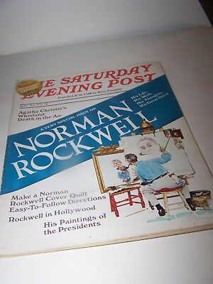 $ CDN12.40 • Buy The Saturday Evening Post Jan1978 Norman Rockwell Life Work Thoughts Great Spiri