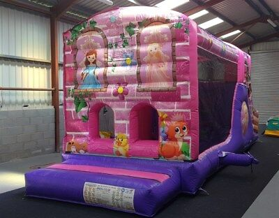 Commercial 10ft X 29ft Princess Obstacle Course Bouncy Castle Disco Pocket • 1,695£
