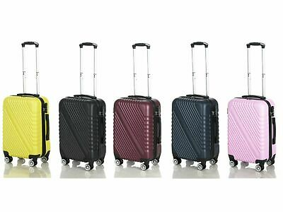 £19.99 • Buy Cabin Hand Luggage Suitcase Ryanair 4 Doubled Wheeled ABS Travel Case