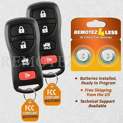 $7.56 • Buy 2 For Nissan Maxima Altima 2002 2003 2004 2005 2006 Keyless Entry Remote Key Fob