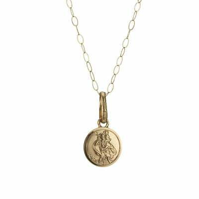 Eternity 9ct Gold Small St. Christopher Pendant & 16'' Trace Chain • 51£