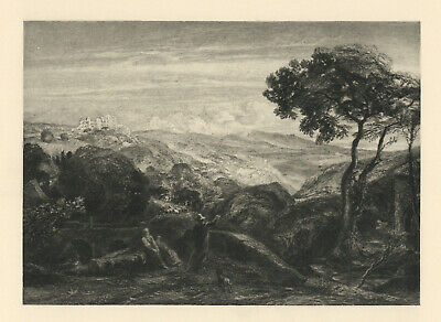 Samuel Palmer 1889 Engraving  The Prospect  • 74.68£