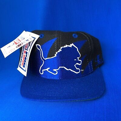 c38742e0 Vintage 90's Detroit Lions Logo Athletic Shark Tooth Rare Black Snapback Hat  NWT • 199.95$