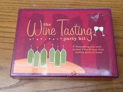 Wine Tasting Party Kit - Unopened NEW NIB Sealed MSRP 24.95 FUN • 11.95$