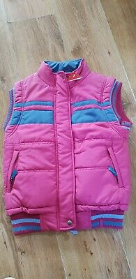 BNWT Girls Ponies Gilet AGE SIZE 10 Years NEW Pink • 12.99£