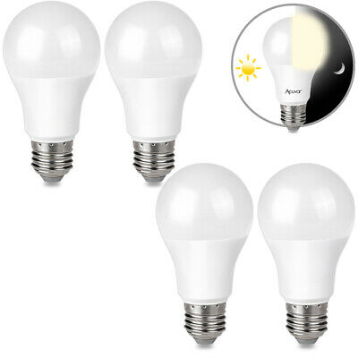 $15.99 • Buy 4 9W E26 LED Dusk To Dawn Light Bulbs Auto On Off For Outside, Home, Lamp